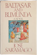 Books:Signed Editions, José Saramago. Baltasar and Blimunda. Translated from thePortuguese by Giovanni Pontiero. San Diego New York London...