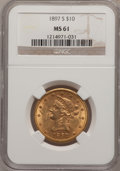 Liberty Eagles: , 1897-S $10 MS61 NGC. NGC Census: (58/31). PCGS Population (21/41).Mintage: 234,750. Numismedia Wsl. Price for problem free...