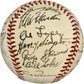 Autographs:Baseballs, 1951 Cleveland Indians Team Signed Baseball. Despite a star-studdedlineup and an impressive 93-win season, the 1951 Clevel...