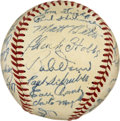 Autographs:Baseballs, 1951 Boston Red Sox Team Signed Baseball. Beantown's beloved RedSox of 1951 are the subject of this high-quality team sign...