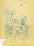 Original Comic Art:Miscellaneous, Carl Barks - Uncle Scrooge #128 Cover Preliminary Sketch OriginalArt (Gold Key, 1976)....