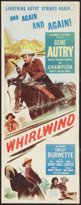 """Movie Posters:Western, Whirlwind (Columbia, 1951). Insert (14"""" X 36""""). Western.. ..."""