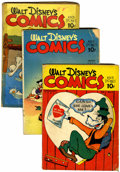 Golden Age (1938-1955):Cartoon Character, Walt Disney's Comics and Stories #5, 11, and 12 Group (Dell,1941).... (Total: 3 Comic Books)