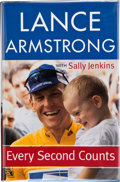 Books:Signed Editions, Lance Armstrong with Sally Jenkins. Every Second Counts. New York: Broadway Books, [2003]. First edition. Signed b...
