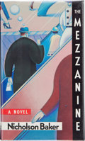 Books:Signed Editions, Nicholson Baker. The Mezzanine. A Novel. New York: Weidenfeld & Nicolson, [1988]. First edition. Signed by the...