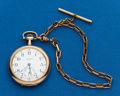 Timepieces:Pocket (post 1900), Illinois 17 Jewel Private Label, with Chain. ...