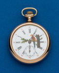 Timepieces:Pocket (post 1900), Swiss 12 Size Fancy Dial. ...