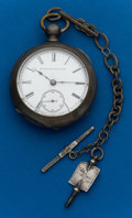 Timepieces:Pocket (pre 1900) , Elgin 4 Ounce Coin Key Wind With Chain. ...