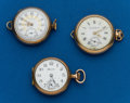 Timepieces:Pocket (post 1900), Three Watches, Elgin, South Bend, Hampden For Parts. ... (Total: 3Items)