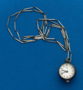 Timepieces:Pendant , Bucherer Ball Shaped Silver Pendant Watch with Chain. ...