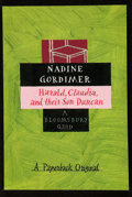 Books:Signed Editions, Nadine Gordimer. Harald, Claudia, and their Son Duncan. [London]: A Bloomsbury Quid, [1996]. First edition. Signed...