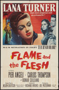 """Movie Posters:Drama, Flame and the Flesh (MGM, 1954). One Sheet (27"""" X 41""""). Drama.. ..."""