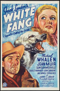 "Movie Posters:Adventure, White Fang (20th Century Fox, 1936). One Sheet (27"" X 41"").Adventure.. ..."
