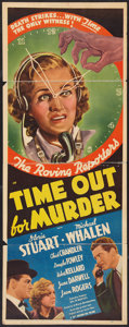 "Movie Posters:Mystery, Time Out for Murder (20th Century Fox, 1938). Insert (14"" X 36"").Mystery.. ..."