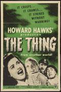 "Movie Posters:Science Fiction, The Thing From Another World (RKO, R-1954). One Sheet (27"" X 41"").Science Fiction.. ..."