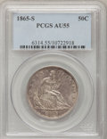 Seated Half Dollars: , 1865-S 50C AU55 PCGS. PCGS Population (4/17). NGC Census: (0/33).Mintage: 675,000. Numismedia Wsl. Price for problem free ...