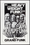 "Movie Posters:Rock and Roll, Get Down Grand Funk (Craddock Films, R-1970s). One Sheet (27"" X 41""). Rock and Roll.. ..."