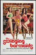 "Movie Posters:Sexploitation, The Swinging Barmaids (Premiere Releasing, 1975). One Sheet (27"" X41"") Flat Folded. Sexploitation.. ..."