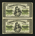 Canadian Currency: , DC-1c 25¢ 1870 Uncut Vertical Pair. ...