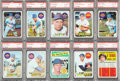 Baseball Cards:Lots, 1969 Topps New York Mets and Yankees PSA-Graded Collection (10)....
