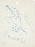 Baseball Collectibles:Others, 1960's New York Yankees Team-Signed Sheets (6) 46....