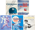 Baseball Collectibles:Publications, 1960-1965 New York Yankees Team Signed Yearbooks Lot of 5 - WithMint Maris Signature....