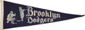 Baseball Collectibles:Others, Circa 1940's Brooklyn Dodgers Pennant....