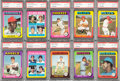 Baseball Cards:Lots, 1975 Topps PSA NM-MT 8 Star & HoFers Collection (21) With Brett and Yount Rookies! ...