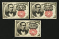 Fractional Currency:Fifth Issue, Fr. 1265 10¢ Fifth Issue. Three Examples.. ... (Total: 3 notes)