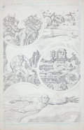 Original Comic Art:Panel Pages, Jack Kirby Super Powers #5 Flash page 9 Pencils Original Art(DC, 1986)....