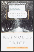 Books:First Editions, Reynolds Price. Roxanna Slade. [New York]: Scribner, [1998].Uncorrected proof of the first edition. Publisher's ori...