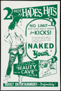 "Movie Posters:Exploitation, Naked Youth/ Beauty and the Cave (Cinema Associates, Inc., R-1961). One Sheet (27"" X 41""). Exploitation.. ..."