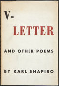 Books:First Editions, Karl Shapiro. V - Letter. And Other Poems. New York:Reynal & Hitchcock, [1944]. First edition. Publisher's orig...