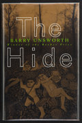 Books:First Editions, Barry Unsworth. The Hide. New York London: W. W. Norton& Company, [1996]. First American edition. Publisher's origi...