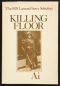 Books:First Editions, Ai. Killing Floor. Poems. Boston: Houghton MifflinCompany, 1979. First edition. Publisher's original binding an...