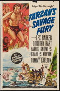 "Movie Posters:Adventure, Tarzan's Savage Fury (RKO, 1952). One Sheet (27"" X 41"") & LobbyCards (5). Adventure.. ... (Total: 6 Items)"