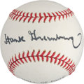 Autographs:Baseballs, 1970's Hank Greenberg Single Signed Baseball. ...