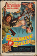 "Movie Posters:War, Screaming Eagles and Other Lot (Allied Artists, 1956). One Sheet(27"" X 41"") and Half Sheet (22"" X 28""). War.. ... (Total: 2 Items)"