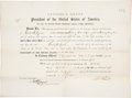 """Autographs:U.S. Presidents, Ulysses S. Grant Appointment Signed """"U. S. Grant"""" aspresident and countersigned by Acting Treasury Secretary CharlesF...."""