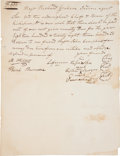 """Autographs:Military Figures, Kickapoo Indian Document Signed by Two Braves and One Chief. One page, 8"""" x 10. 25"""", n.p. [possibly Missouri or the future t..."""