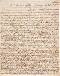 """Autographs:Military Figures, Indians of Michigan: Autograph Letter Signed by George Torrey. Three pages, 7.75"""" x 9.75"""", Charleston, Kalamazoo County [Mic..."""