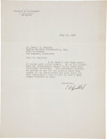 """Autographs:Celebrities, Charles Lindbergh Typed Letter Signed. One page, 8.5"""" x 11"""", New York City, July 11, 1930, on Lindbergh's personal letterhea... (Total: 2 Items)"""