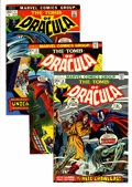 Bronze Age (1970-1979):Horror, Tomb of Dracula Group (Marvel, 1973-74) Condition: Average NM-....(Total: 5 Comic Books)