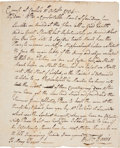 Autographs:Military Figures, Whiskey Rebellion: Two Letters written during the rebellion, one while trying to join President Washington's march to put do... (Total: 2 Items)