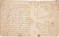 "Books:Manuscripts, Eighteenth Century Pennsylvania Land Survey Book, entitled ""Bookof Draughts"", with dates between 1773 and 1792. The boo..."