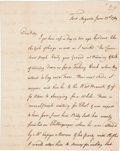 Autographs:Military Figures, Pennamite-Yankee War: Three Letters dated 1769, 1773, and 1783. One letter reports the confrontation of two hundred opposing... (Total: 3 Items)