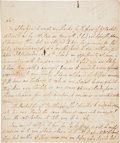 "Autographs:Non-American, [Thomas Penn] Juliana Penn Autograph Letter Signed. Two pages,7.75"" x 9.25"", Stoke [Buckinghamshire, England], May 30, 1775..."