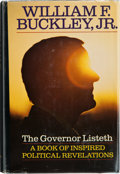Books:Signed Editions, William F. Buckley, Jr. The Governor Listeth. A Book of Inspired Political Revelations. New York: G. P. Putnam's...