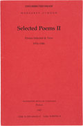 Books:Signed Editions, Margaret Atwood. Selected Poems II. Poems Selected & New 1976-1986. Boston: Houghton Mifflin Company, 1987. Adva...