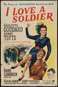 "Movie Posters:Drama, I Love a Soldier (Paramount, 1944). One Sheet (27"" X 41""). Drama.. ..."